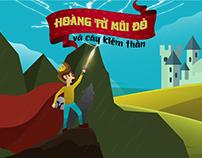 Hoàng tử mũi đỏ và cây kiếm thần / Nguyễn Minh Nhựt