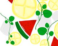 Lemon, Mint and Melon.