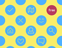 Polka icons - free icon set