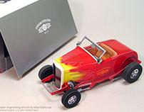 Dimensional paper car.