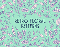 Retro Floral Patterns + Process