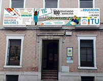 Advertising for school in Granada