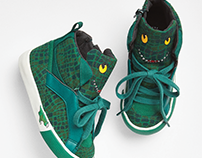 gap, 3d dino hi-top sneaker; shoe design