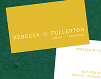 Business Cards: Rebecca M. Fullerton