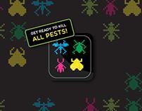 Pest Control - App Game retro style