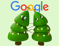 Google Christmas Stickers