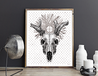 Nine-Antler Deer Poster