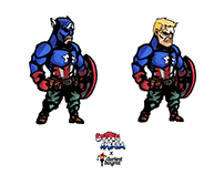 Captain America x Darkest Dungeon Concept