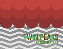 Twin Peaks stickers set