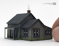 Miniature Dorothy's Farmhouse from Wizard of Oz