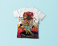 Print on t-shirt for soho country club.
