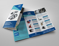 Auto Parts Catalog Tri-Fold Brochure Template