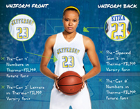 How to Decorate a Basketball Uniform infographic.