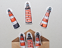 Lighthouses (sticker pack)