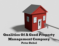 Qualities Of A Good Property Management Company