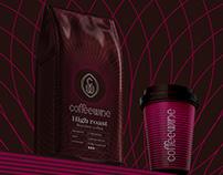 Coffeewine logotype and branding identity