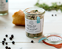 Kuglóf Cafe image and packaging design