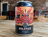 Solstice IPA Can Design