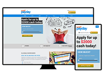 I Want PayDay (PSD to HTML5, Bootstrap, Responsive)