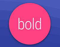 Bold Watch Face for Android Wear