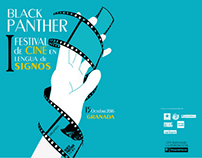 Cartel festival cine en lenguaje de signos