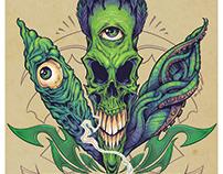 Pot Leaf Skull