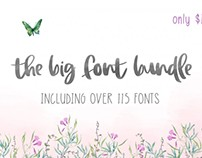 The Big Font Bundle with 119 Fonts
