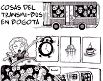 Comic, transporte publico en Bogotá.