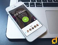 Mobile App UI Design for MarkMe.In