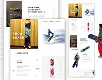 Snow Board - Landing page design concept