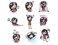 Sophie si Shopaholic- Sticker Pack