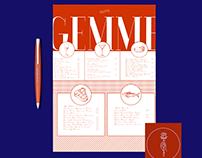 GEMME Restaurant Brand & Menu Book