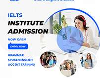 Bharti English Classes - Social Media banner design