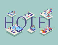 Hotel concept illustrations