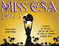 Caribbean Student Association's Pageant Poster