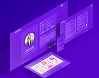 CV Resume Virtual vCard Portfolio HTML Template