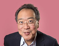 portraits of cellist Yo-Yo Ma