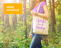 Canvas Bag Mockup Pack (+ FREE MOCKUP)