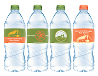 Carnes Crossroads Real Estate Water Bottle Labels