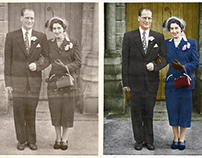 Restored and Coloured Black and White Photo
