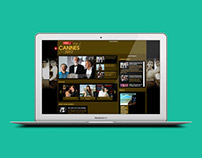 Cannes 2012 Web Design