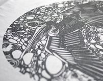 Pelican t-shirt illustration