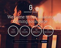 amazing  coming soon PSD