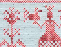 Prewinter graffity  Hand embroidery