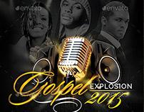 Gospel Explosion PSD Flyer Template