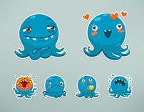 VKontakte Octopus Otto Sticker Set