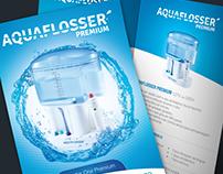 Logotipo e embalagens Aquaflosser