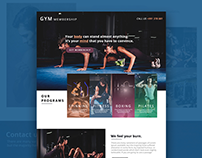 GYM Membership - WEB UI DESIGN
