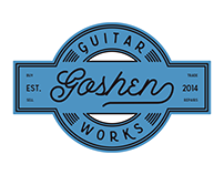 Goshen Guitar Works visual identity