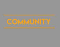 Minimalist Poster of Community